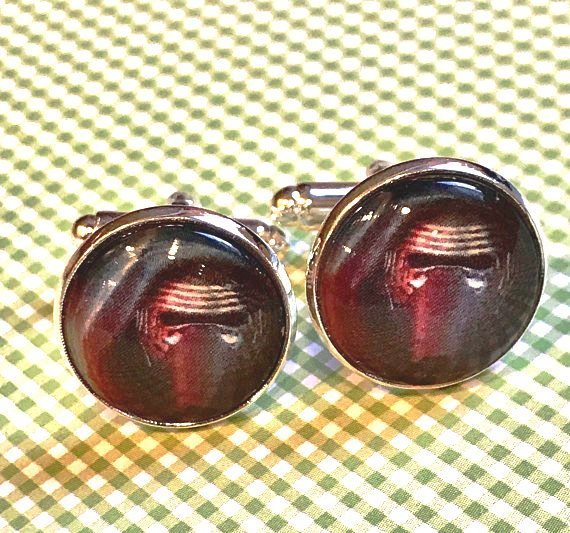 Kylo Ren glass cabochon cufflinks - 16mm
