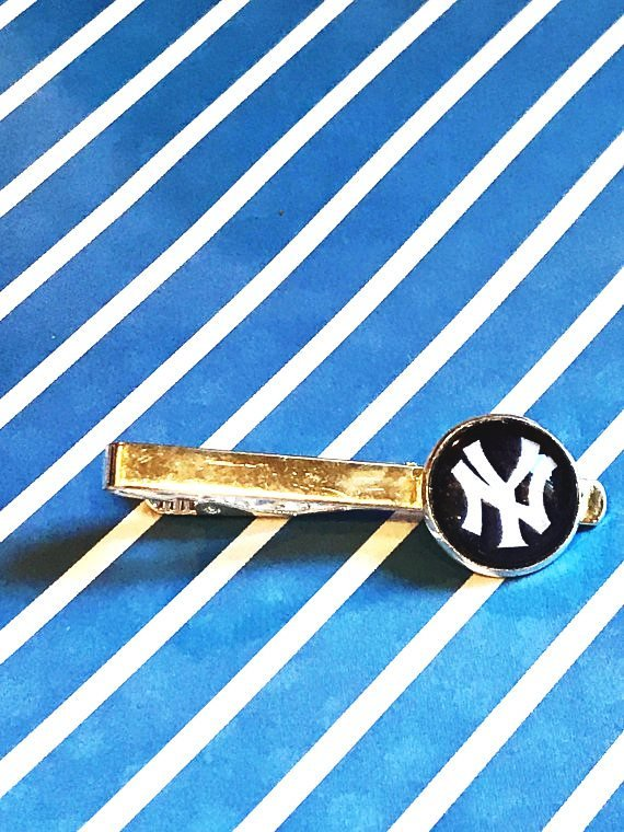 New York Yankees cabochon tie clip - 16mm