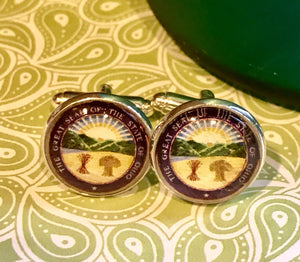 State of Ohio seal cabachon cufflinks - 16mm