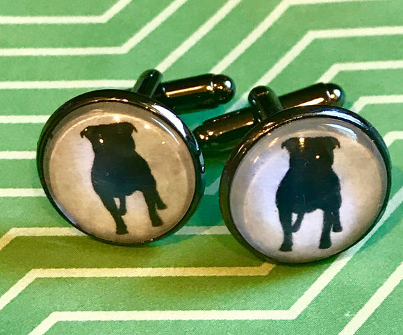 Bulldog cabachon cuff links - 16mm