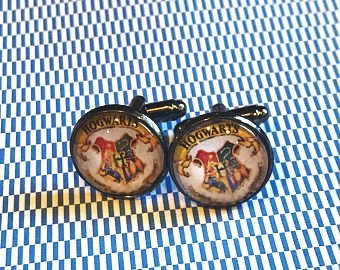 Harry Potter Hogwarts cabachon cufflinks  - 16mm