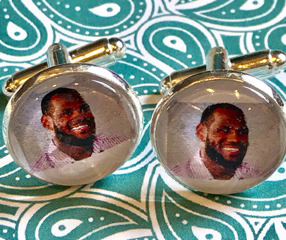 Lebron James cabochon cufflinks - 16mm