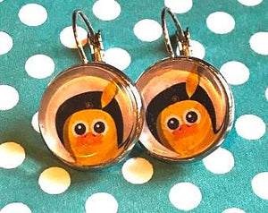 Chick cabachon earrings - 16mm