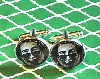 Jerry Garcia cufflinks - 16mm