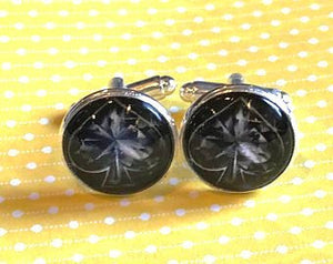 Playing card spade cufflinks - 16mm