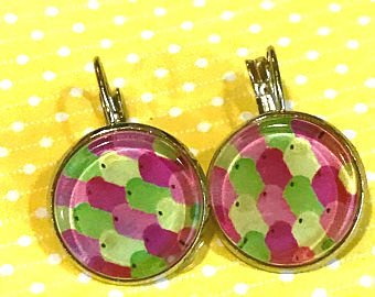 Peeps earrings - 16mm