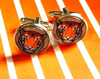Princeton Tigers cabochon cufflinks - 16mm