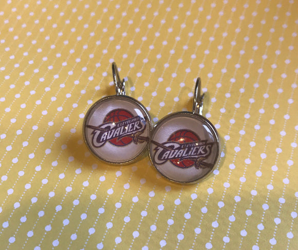 Cleveland Cavaliers cabochon earrings - 16mm