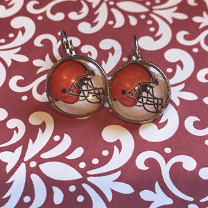 Cleveland Browns cabochon earrings - 16mm