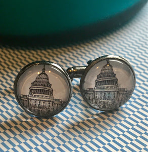 Capitol Hill cabachon cufflinks - 16mm