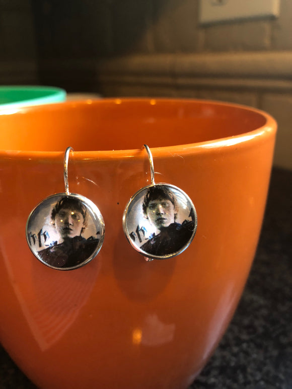 Ron Weasley cabochon earrings - 16mm