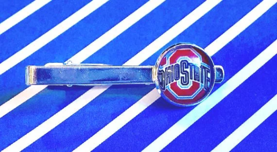 Ohio State University Buckeyes Glass Cabochon Tie Clip