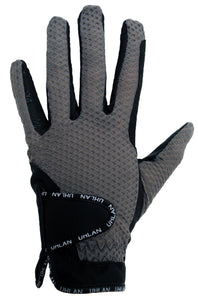 Unisex Grey Mesh Riding Gloves