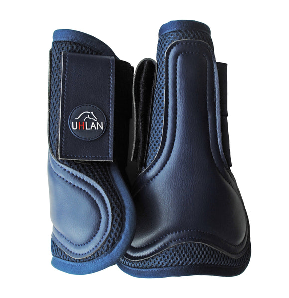 Navy Airflow Tendon Boots
