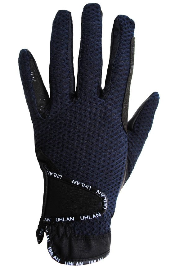Unisex Navy Mesh Riding Gloves