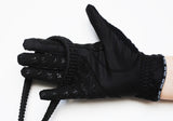 Unisex Black Mesh Grip Gloves