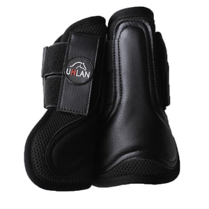 Black Airflow Tendon Boots