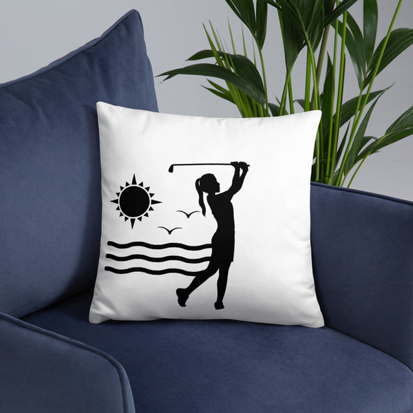 """Sunset Golf"" Pillow"