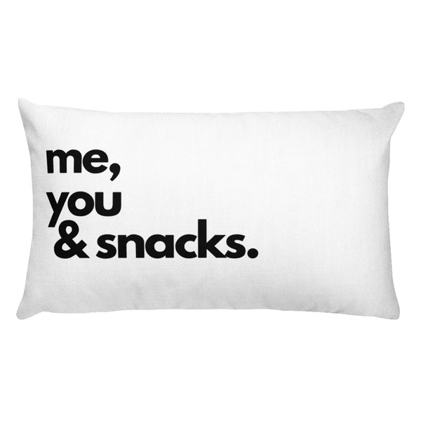 Me, You & Snacks Pillow