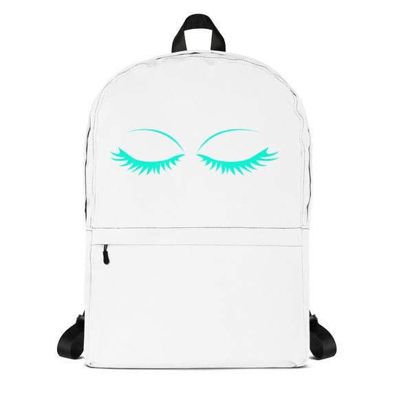 Teal Eyelashes Backpack