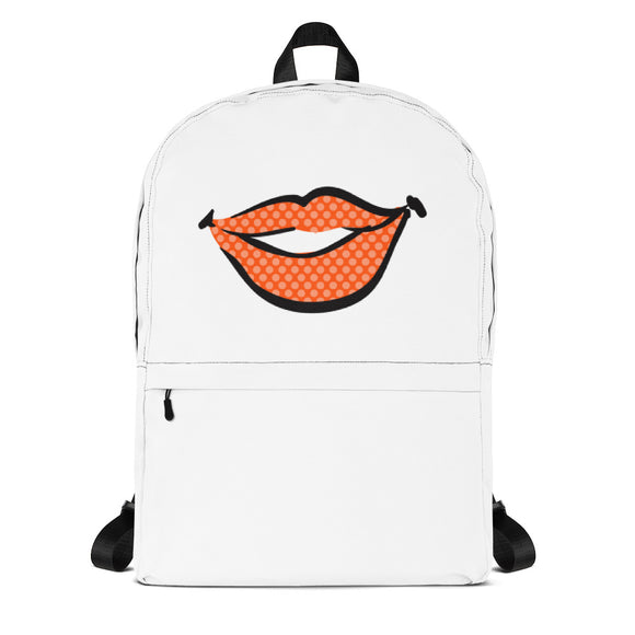 Orange Lips Backpack