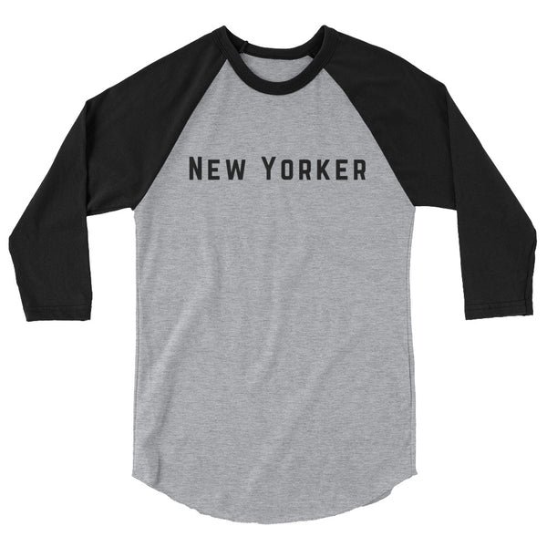 """New Yorker"" 3/4 sleeve raglan shirt"
