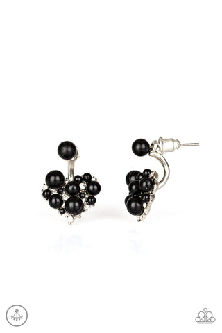 Paparazzi Earrings-Star Studded Success-Black