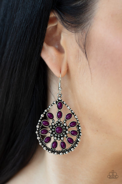 Paparazzi Earrings-Free to Roam-purple