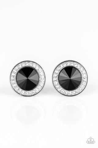 Paparazzi Earrings-What Should I Bling-Black