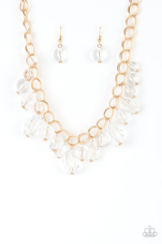 Paparazzi Necklace-Gorgeously Globetrotter-Gold