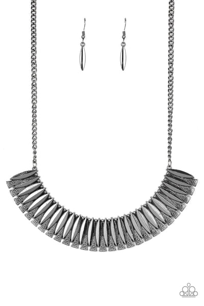 Paparazzi Necklace-My Main Mane-Gunmetal