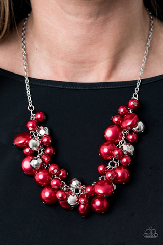 Paparazzi Necklace-Battle of the Bombshells-Red