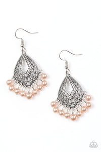 Paparazzi Earrings-Gracefully Gatsby-Brown