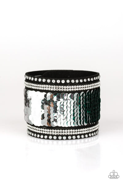 Paparazzi Bracelet-Mermaids Have More Fun-Green