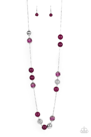 Paparazzi Necklace-Fruity Fashion-Purple