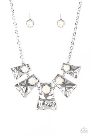 Paparazzi Necklace-Cougar-White