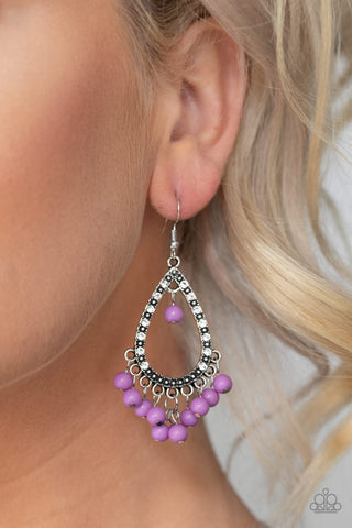 Paparazzi Earrings-Positively Prismatic-Purple