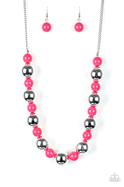 Paparazzi Necklace-Top Pop-Pink