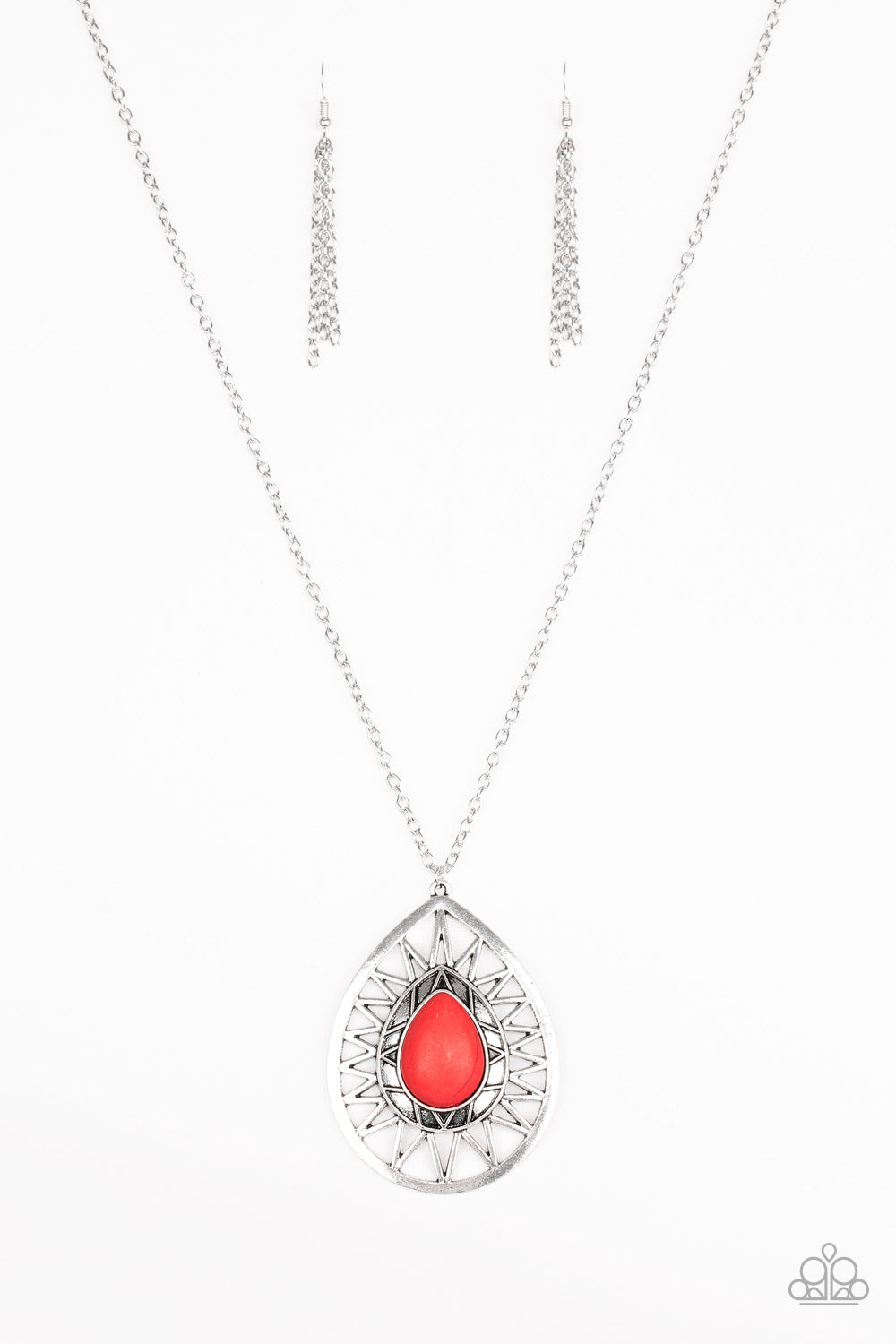 Paparazzi Necklace-Summer Sunbeam-Red