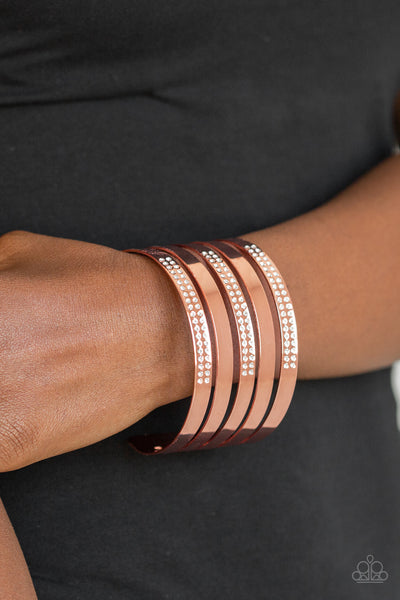 Paparazzi Bracelet-Big Time Shine-Copper