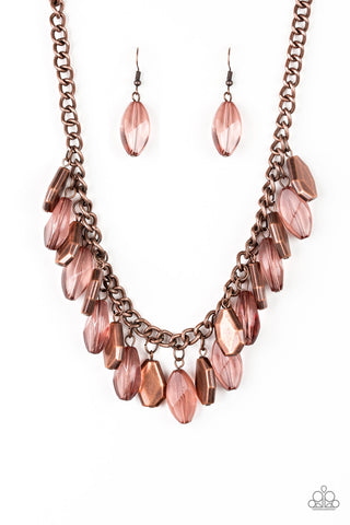 Paparazzi Necklace-Fringe Fabulous-Copper