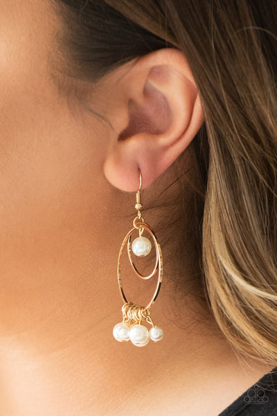 Paparazzi Earrings-New York Attraction-Gold