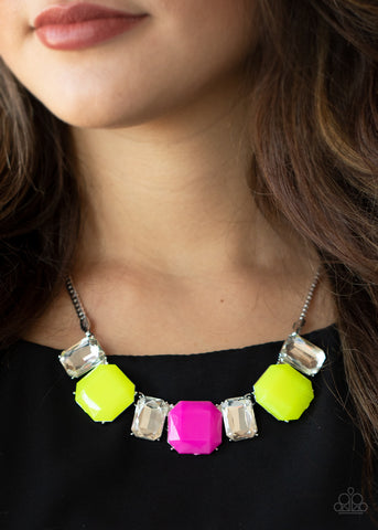 Paparazzi Necklace-Royal Crest-Yellow