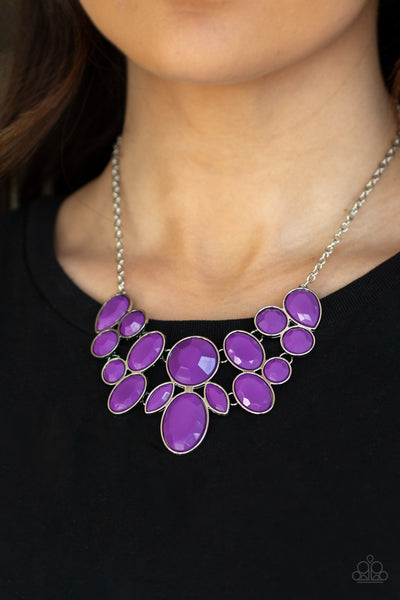 Paparazzi Necklace-Demi Diva-Purple