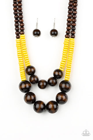 Paparazzi Necklace-Cancun Castaway-Yellow