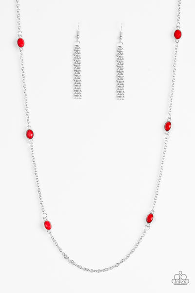Paparazzi Necklace-In Season-Red