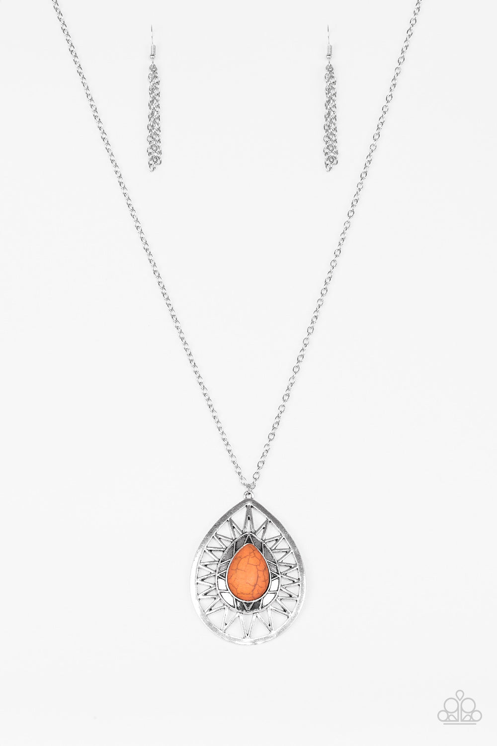 Paparazzi Necklace-Summer Sunbeam-Orange