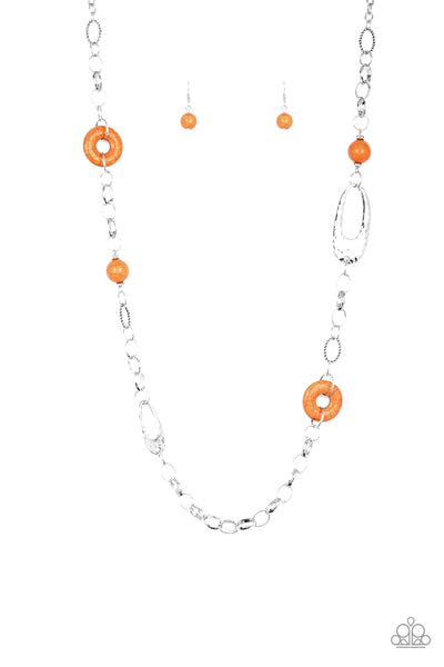 Paparazzi Necklace-Artisan Artifact-Orange