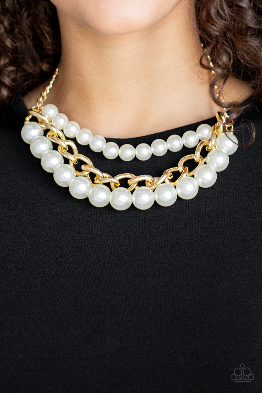 Paparazzi Necklace-Empire State Empress-Gold