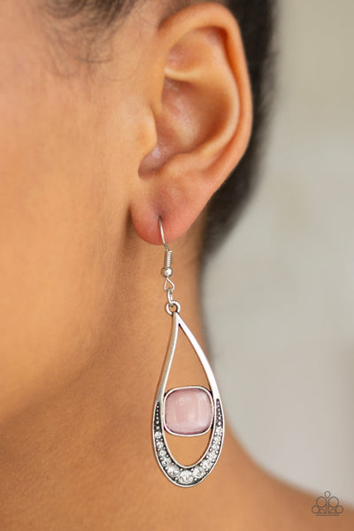 Paparazzi Earrings-The Greatest Glow on Earth-Pink